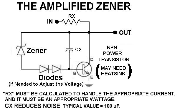 an amplified zener\