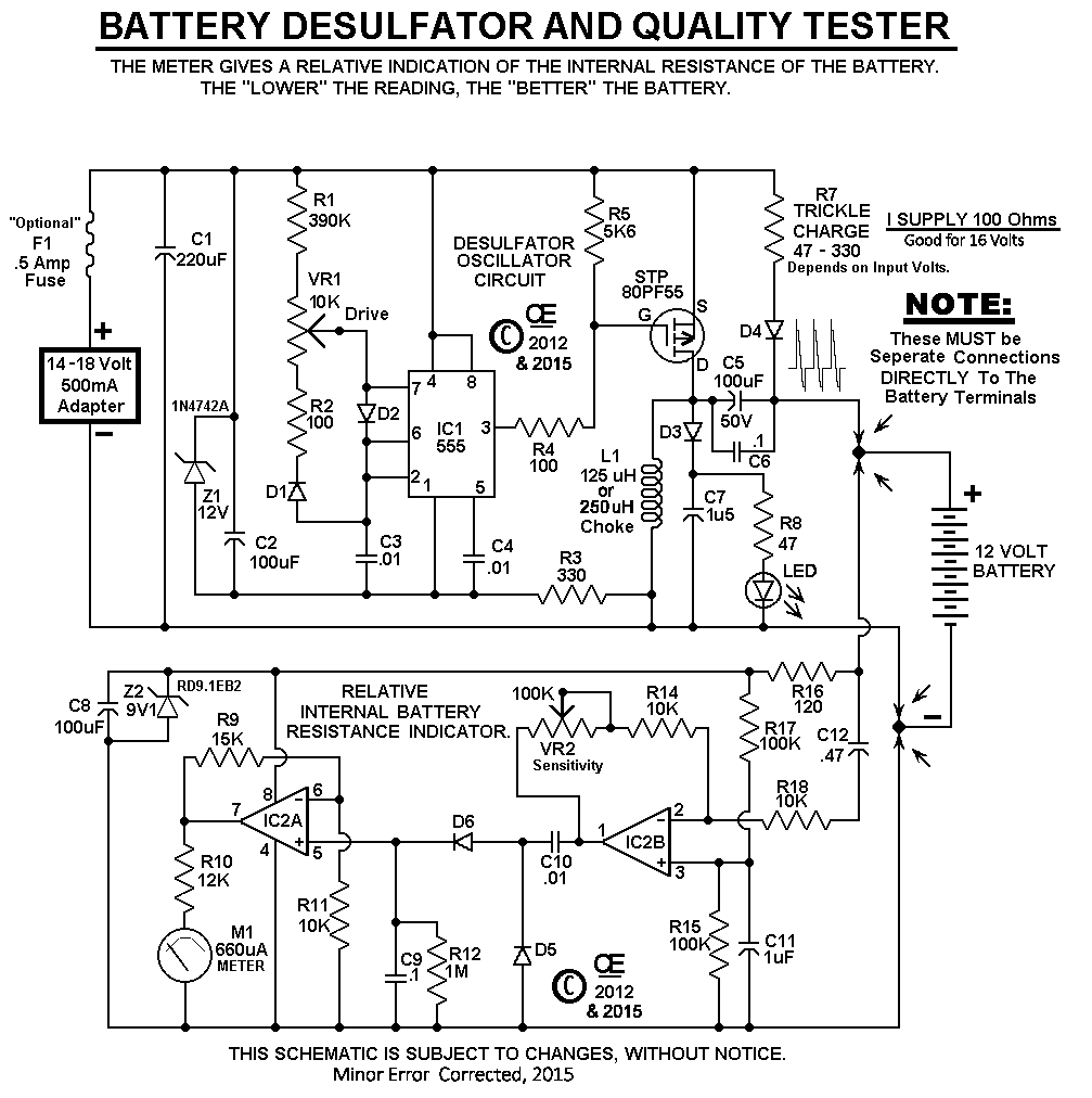 my new battery desulfator tester rh chemelec com 12v lead acid battery desulfator circuit diagram