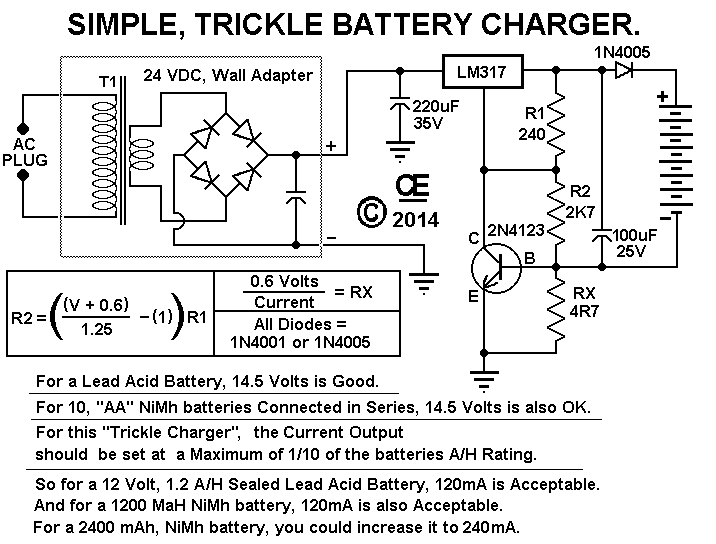 Simple trickle battery charger the schematic ccuart Choice Image