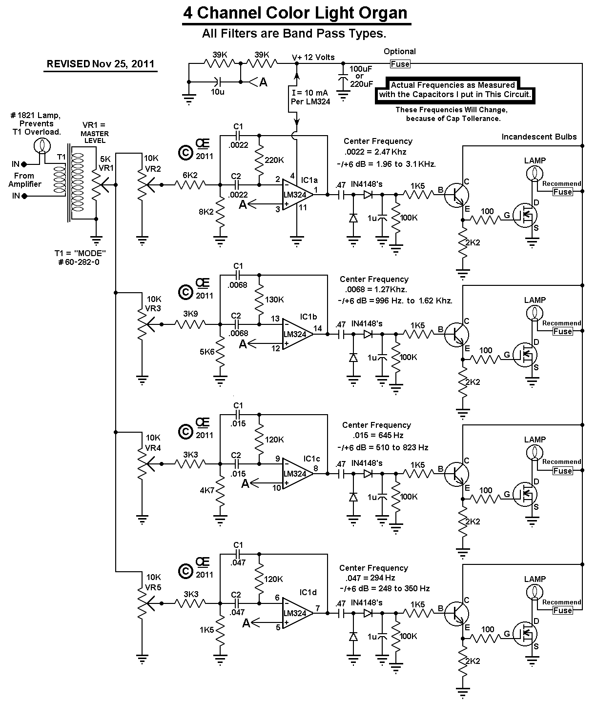 Channel Color Organ Schematic For Nmosfet Wiring Diagram Online Yaesu G 1000dxc Circuit 4 12 Volt Your Car