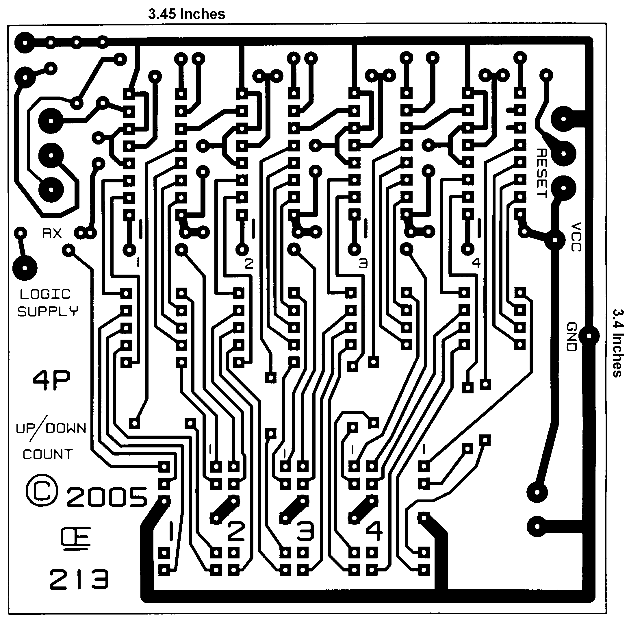 Display Counter Circuit Board : A digital up down counter