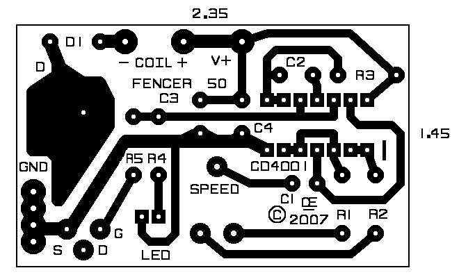 Cmos electric fence design circuit board publicscrutiny Choice Image