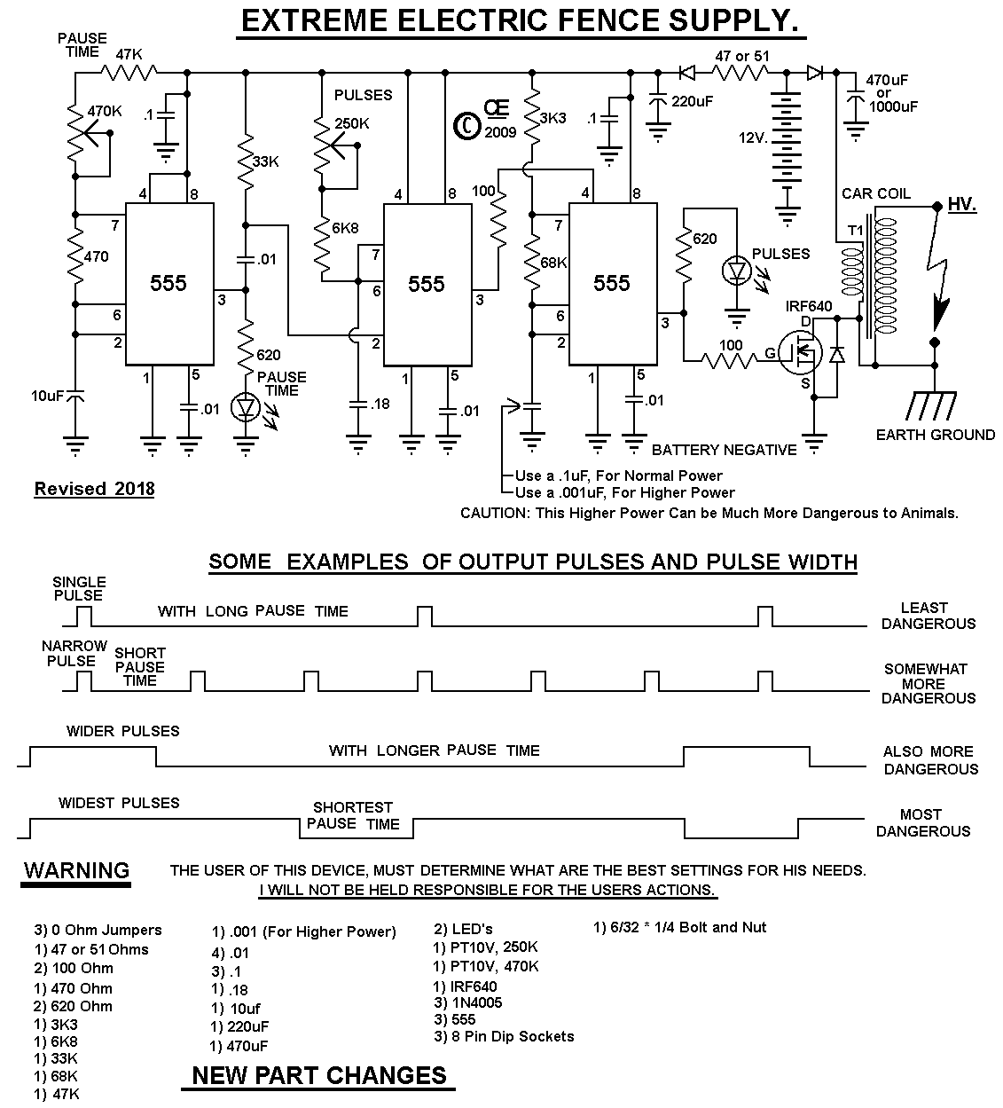 Circuit Diagram For Electric Fence Energizer Switch Revlimiternet Low Profile Headlight Wiring Hotter More Powerful Design Rh Chemelec Com Energiser