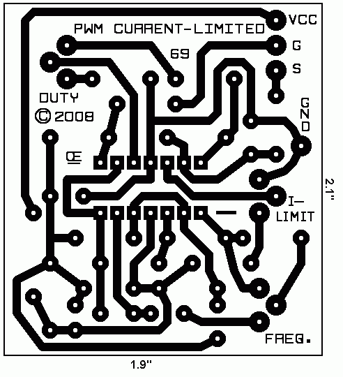 current limited pwm i created this small circuit board for this project it will be available if needed