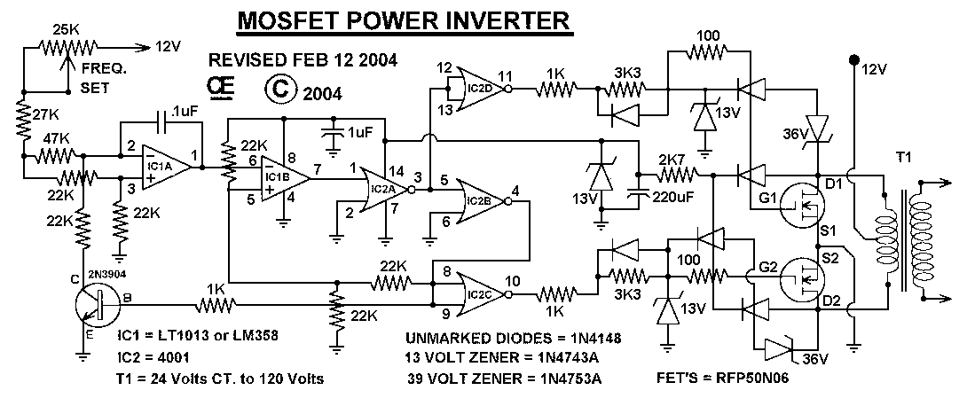 Mos fet power inverter my origional schematic asfbconference2016 Choice Image