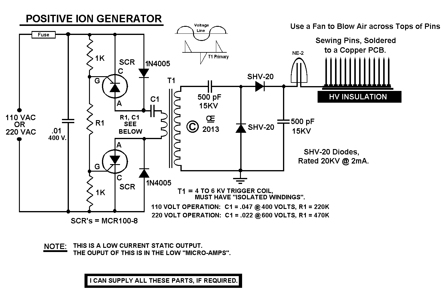 Ion Generators on negative ion generator evaporator cooler, jacob's ladder schematic, negative to positive voltage converter circuit, time delay schematic, negative ion generators diy,
