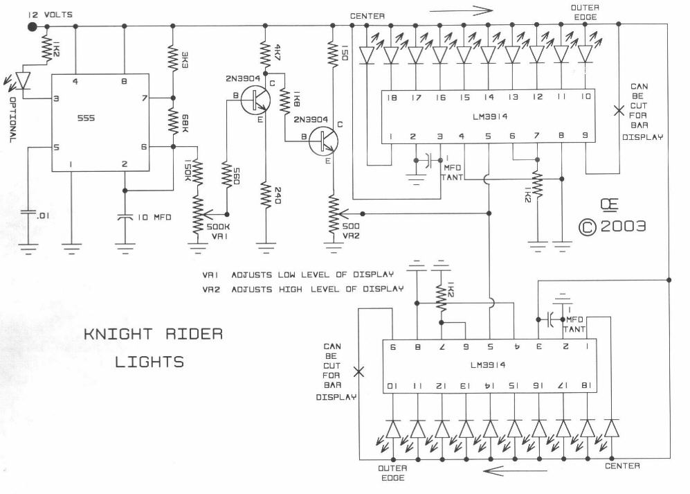 12 Knight Rider Light Systems