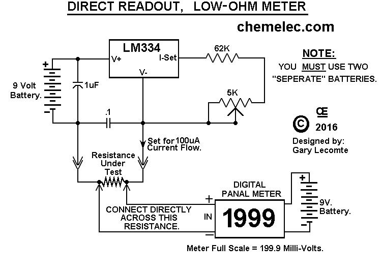 Ohmmeter Circuit Symbol : Digital micro ohmmeter circuit diagram and