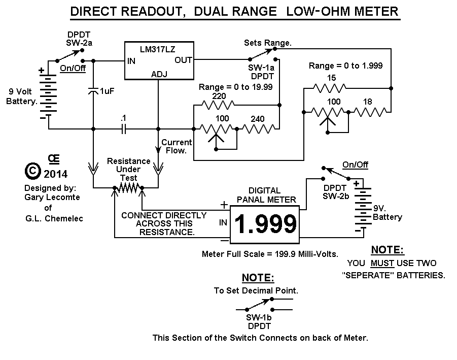 Low Ohm Meter Ohm Meter Schematic on