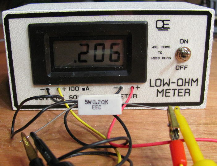 Ohmmeter To Measure Ohms : Low ohm meter