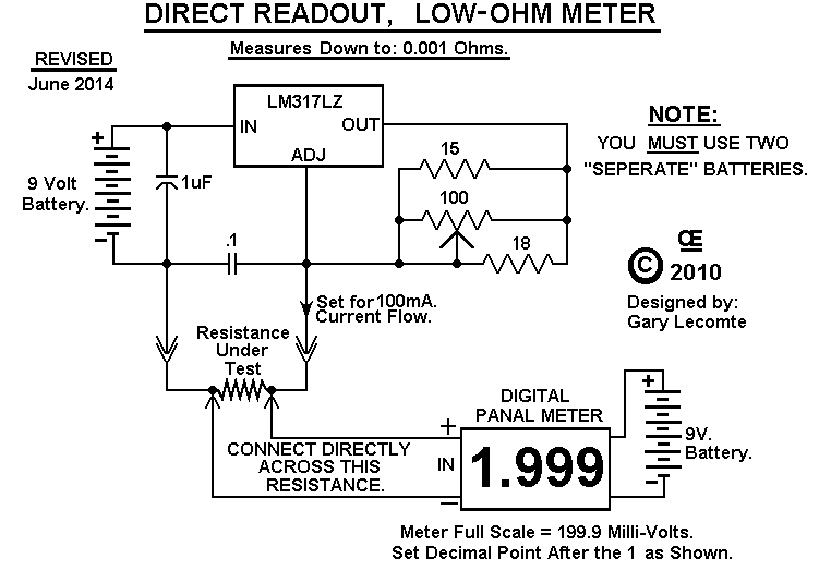 Micro Ohm Meter Schematic Diagrams Circuits - Wiring Diagram Data on