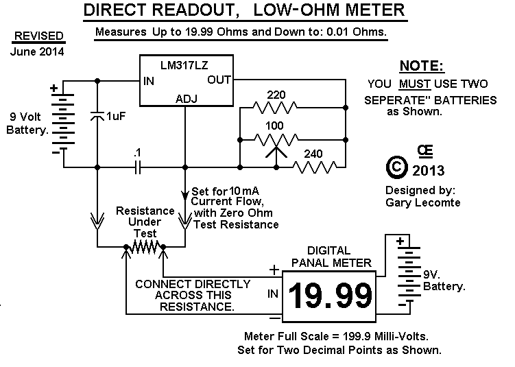 Ohmmeter Circuit Symbol : Low ohm meter schematic diagram search for wiring diagrams