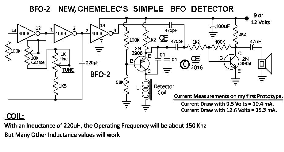 NEW - BFO Metal Detector Magnet Metal Detector Pcb Schematic Diagram on