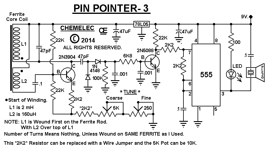 Pin Pointer-3, Metal Detector.