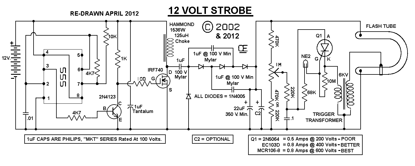 12vdc strobe light schematic  12vdc  free engine image for