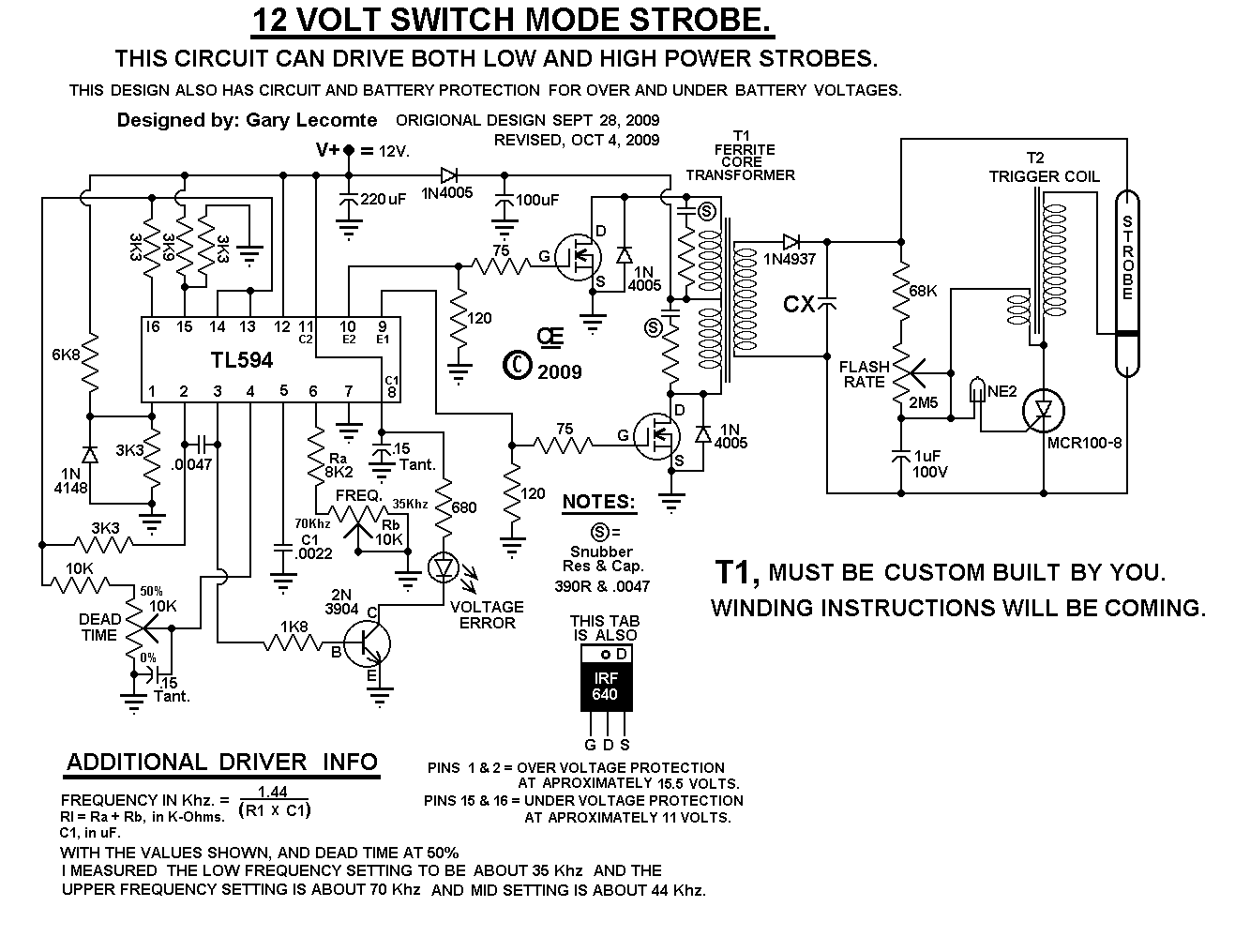 Strobe 2 sch a switching supply, 12 volt strobe strobe power supply wiring diagram at soozxer.org