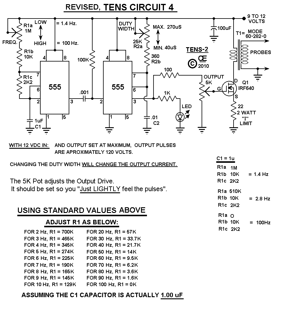 build a tens machine to remove pain 7 steps rh instructables com Deep Brain Stimulator Circuit Diagram PT Circuit Diagram