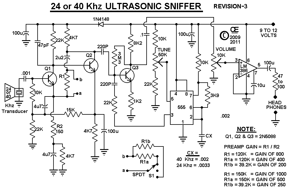 ultrasonic sound detector